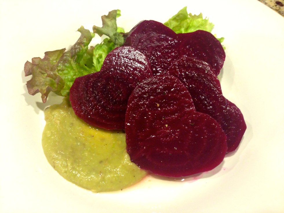 Heart-shaped Beet Salad